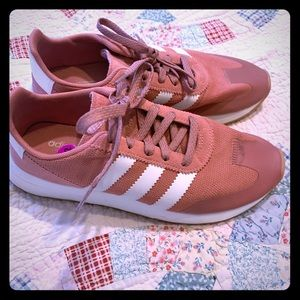 Adidas dusty rose trainers